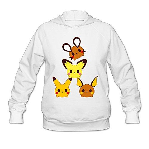 [Wesley Pokemon Pikachu Family Wen's Fashion Pullover Hood White M] (Lone Ranger Costume Shirt)