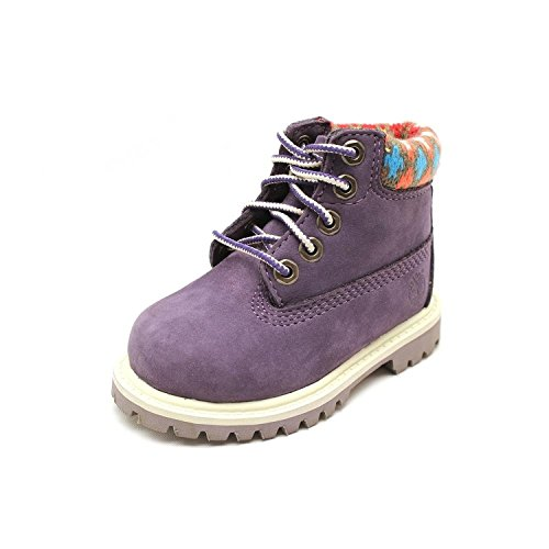 Timberland Children's 6'' Premium Waterproof Boot,Grey Leather,US 4 M by Timberland