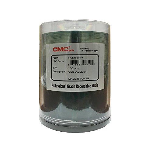 CMC Pro - Powered by TY Technology Shiny Silver CD-R - 100-Pack Spindle by CMC Pro - Powered by TY Technology