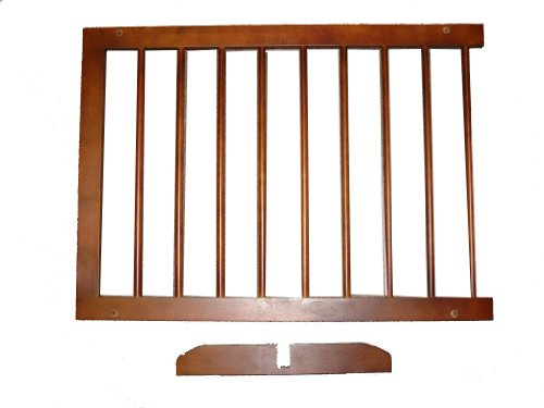 Cardinal Gates Step Over Gate Extension, Walnut