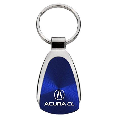 Keychain /& Keyring with Acura CL Logo Blue Teardrop