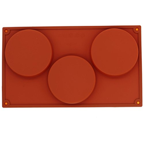 Funshowcase 3-Cavity Large Round Disc Candy Silicone - Silicone Flexible Mold