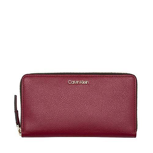 K60k604497 Xl Cornice grande Zip Rouge Femme Around Uni Portefeuille Klein Calvin w0F88