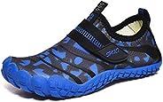 Kenswalk Boys Girls Water Shoes Aqua Socks for Kids Quick-Dry Swim Walking Surf Diving Barefoot Pool Beach