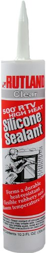 Rutland Products 76C 500-Degree RTV High Heat Silicone Seal, 10.3-Ounce Cartridge, Clear (Furnace Ceramic Tube)