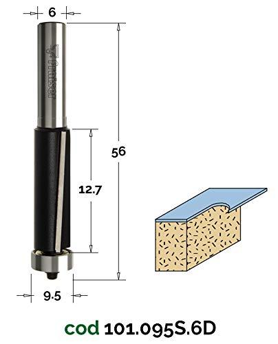 Attacco 6 8 12 mm Fresa per Legno da Fresatrice Verticale HW x Rifilare con Cuscinetto D 12.7 // I 12.7 // S 6 Frese Fraiser