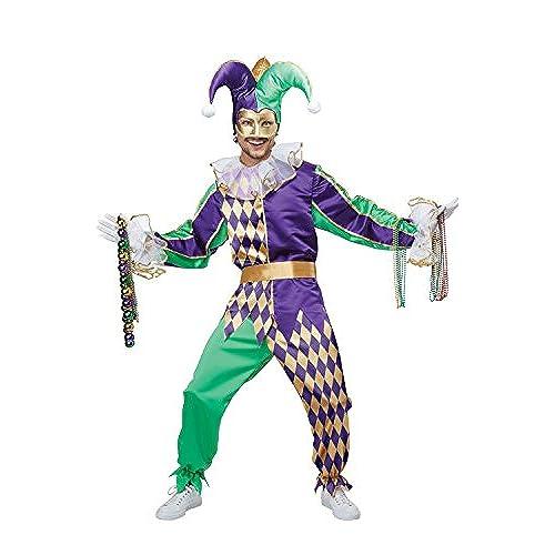 Mardi Gras Jester Costume: Amazon.com - photo #12