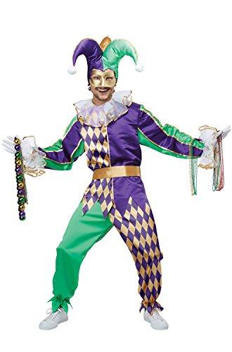 California Costumes Men's Mardi Gras Jester, Multi, X-Small (Festive Costume)