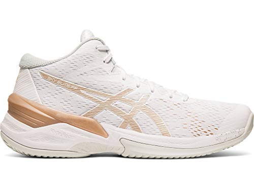 ASICS Women's Sky Elite FF MT Court Shoes, 8.5M, White/Frosted Almond