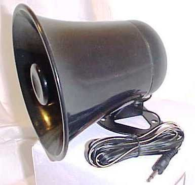 PA Horn SPEAKER w/ Plug and Wire – 5 inch for CB / Ham Radio, Outdoor Stuffs