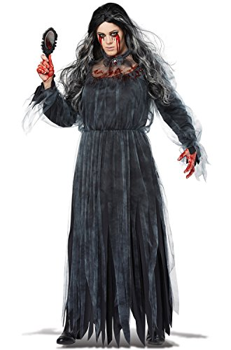 (California Costumes Women's Size The Legend of Bloody Mary Adult Woman Plus Costume, Black/Gray, 1X)