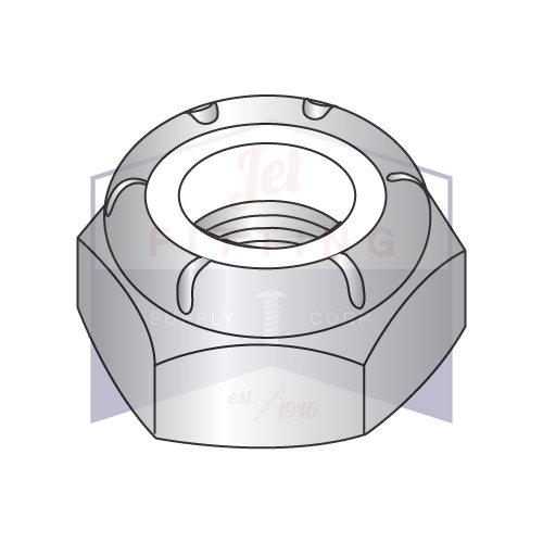 3/4-16 NTE Nylon Insert Hex Lock Nut (Stop Nut) | Thin Pattern | Light Hex, Thin Height (NTM & NTE Series) | 18-8 Stainless Steel (QUANTITY: 100)
