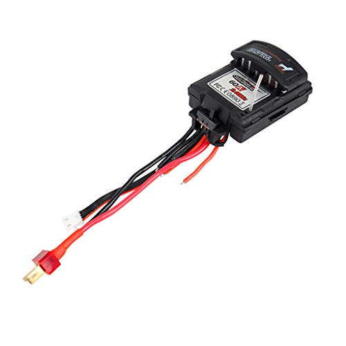 UMFun Brushed Speed Controller ESC Repair Spare Part for XLH 9125 1/10 Scale RC Car Black