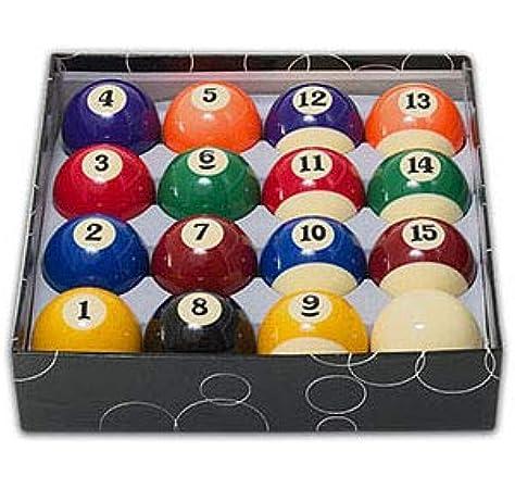 Juego bolas económicas numeradas 50. 8mm blanca 47. 6mm: Amazon.es: Deportes y aire libre