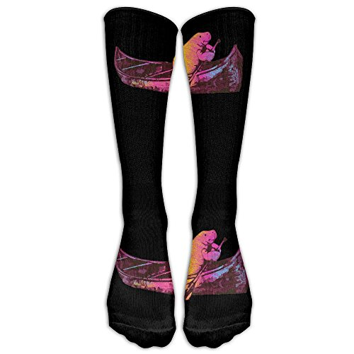 MANATEE In A Canoe Galaxy Casual Unisex Sock Knee Long High Socks Sport Athletic Crew Socks One Size
