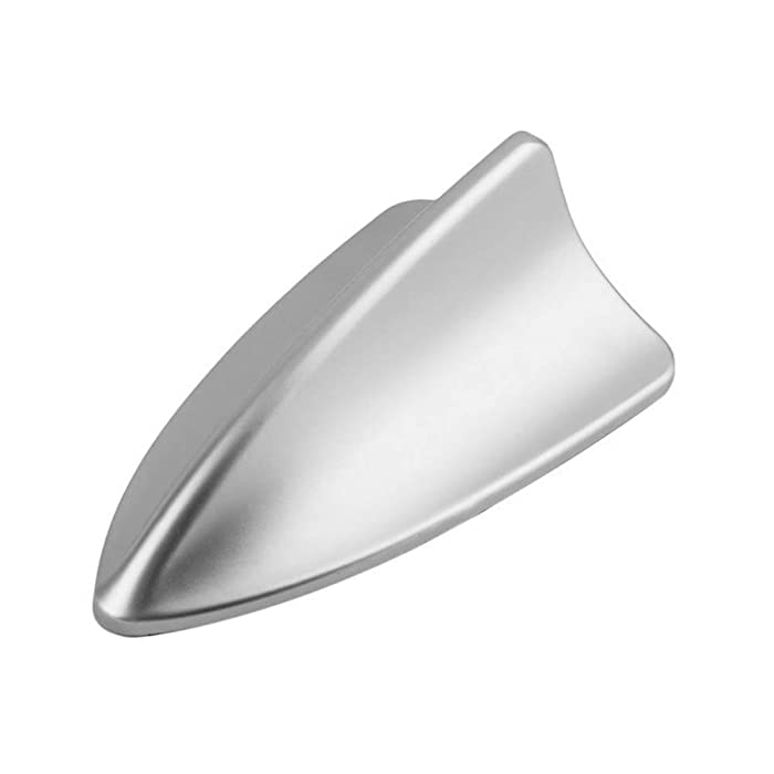 niversal Car Auto Shark Fin Roof Antenna Radio Decorate Aerial Cover (SILVER)