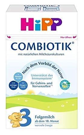 HiPP 3 Bio ComBiotik Bio, Folgemilch ab dem 10. Monat, 4er Pack (4 x 600 g) 420283 Milchnahrung