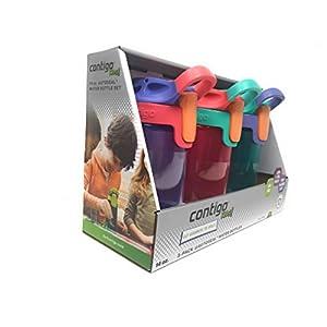 Contigo Kids Autoseal Gizmo Water Bottles, 14oz (Sprinkles/Wink/Persian Green)