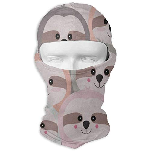 YIXKC Balaclava Funny Sloth Pink Cheek Personalized Face Mask for Women Motorcycling & Winter Sports -