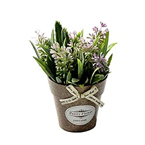 You Are My Eye Artificial Plant Decorative Flower Home Decoration Fake Flower Small Mini Potted Bonsai Green Plant,Pink 29