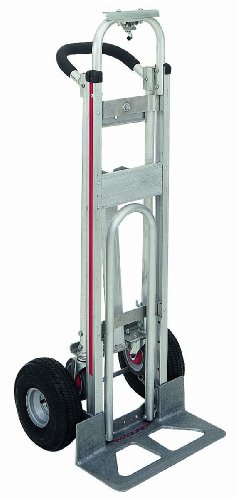 Magline TPAUA4 3 Position Hand Truck, U Loop Handle, Pneumatic Wheels, 500 lbs Load Capacity, 51'' Height, 21'' Width by Magliner
