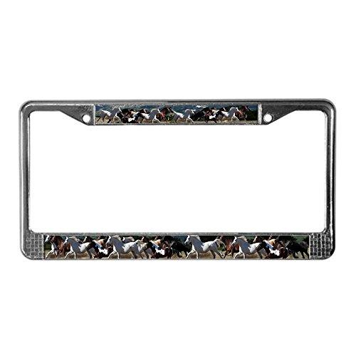 CafePress All The Pretty Horses Chrome License Plate Frame, License Tag Holder (License Plate Frame Cafe Press)