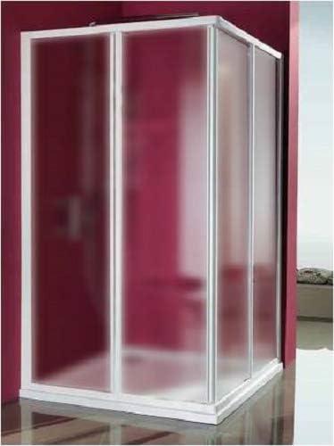 Mampara de ducha Acrílico 3 mm con apertura corredera, Medida: 68/80 x 88/100 cm, Altura 185 cm: Amazon.es: Hogar