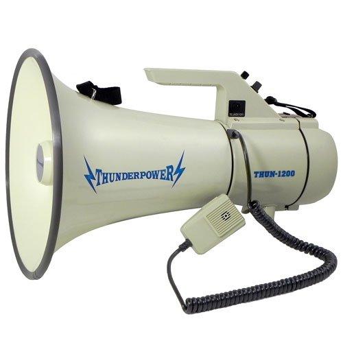 Extra Loud, Heavy Duty Megaphone - ThunderPower 1200 - 45 Watts of - Megaphone Street