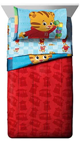 Jay Franco Daniel Tiger's Neighborhood 4 Piece Toddler Bed Set - Super Soft Microfiber Bed Set Includes Toddler Size Comforter & Sheet Set - (Official Daniel Tiger's Neighborhood Product) 3