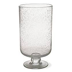 Tag Bubble Glass Large Hurricane Candle Holder