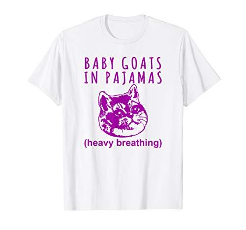 Baby Goats in Pajamas Heavy Breathing Cat Meme Tshirt