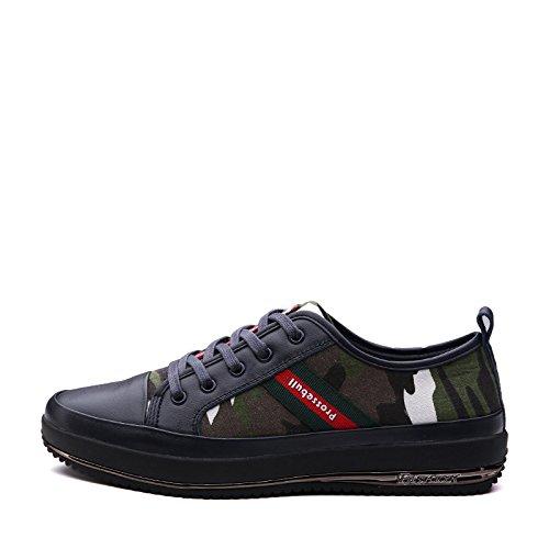 Zapato De Cuero Genuino Sin Mangas Con Parte Baja De Prossebull Para Hombre (eur 40, Verde Militar) Verde Del Ejército