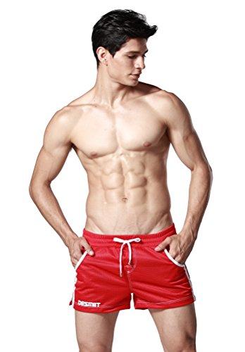 933174c1d8 DESMIIT Men's Mesh Pocket Short Red US Large Asia XXL - Import It All