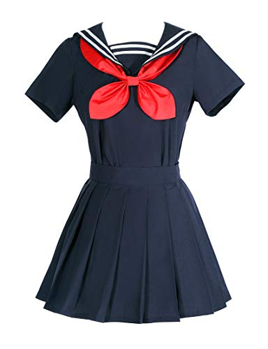 ROLECOS Himiko Toga Cosplay Costume My Hero Academia Sweater Sailor Dress Oufit Size XL]()