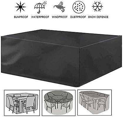 LPD Funda for Muebles De Jardín Impermeable Funda for Mesa for Mobiliario De Exterior Mesa Rectangular Grande Cubierta del Patio Oxford Negro (Color : Black, Size : 60x60x60cm): Amazon.es: Jardín