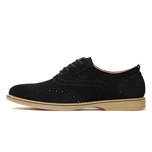 [QIFENGDIANZI]靴 メンズ モカシン ウォーキングシューズ カジュアルシューズ レースアップ スエード お兄系 クッション コンフォート 通気性 滑り止め 通勤 黒 ブルー カーキ グレー
