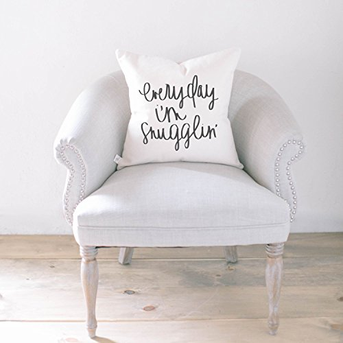Pillow Cover - Everyday I'm Snugglin', home decor, present, housewarming gift, cushion cover, throw pillow, cushion, pillow case