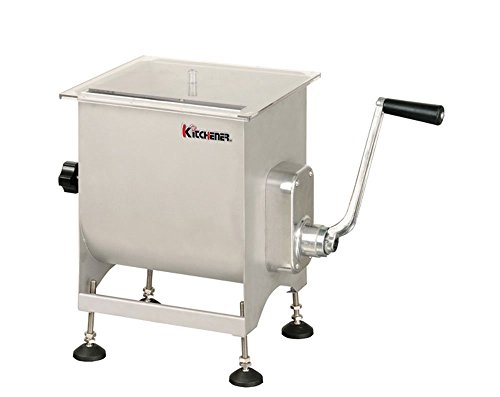 KITCHENER Heavy Duty Commercial Grade Electric Stainless Steel High HP Meat Grinder ... (Motorized/Manual Meat Mixer)