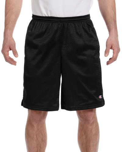 Champion Long Mesh Men's Shorts with Pockets (L, Black)