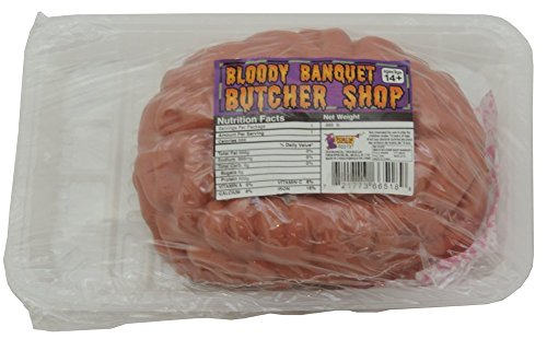 Butcher Shop Bloody Brain Packaged Meat Tray Prop