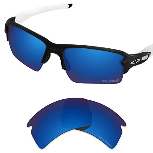 Tintart Performance Replacement Lenses for Oakley Flak 2.0 XL Sunglass Polarized Etched-Sapphire Blue by Tintart