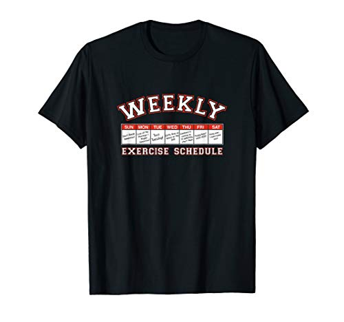 Shirt.Woot: Weekly Workout Schedule T-Shirt