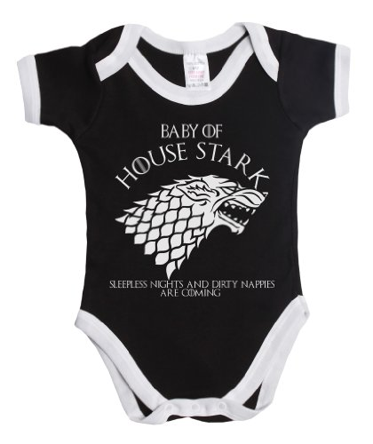 House Of Stark Sleepless Nights and Dirty Nappies Unisex Boy/Girl Baby Grow Vest ~