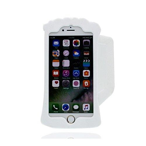iPhone 6 Plus Copertura,iPhone 6S Plus Custodia,3D Cartoon Tazza di birra Pelle morbida in gomma siliconica per la copertura posteriore della copertina Case cover per iPhone 6 Plus/ 6S Plus 5.5inch