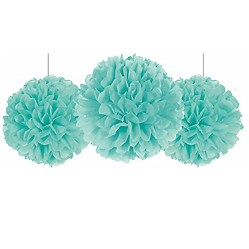 - amscan Fluffy Decorations - Robin's-Egg Blue