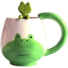 Mug Cup Set with Little Hanging Spoon By Cailorlife (Frog)