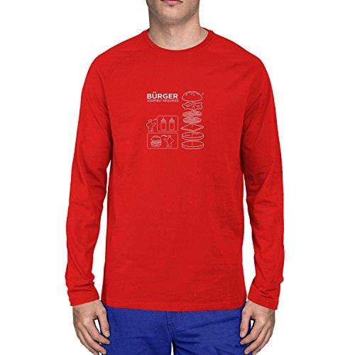 Planet Nerd - Bürger Assembly required - Herren Langarm T-Shirt, Größe L, rot