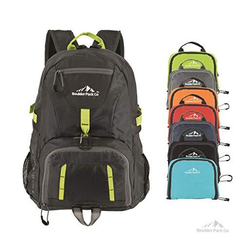 Boulder Pack Co. Lightweight Foldable Travel and Hiking Daypack Backpack