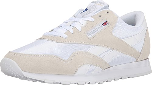 Reebok Men's Classic Sneaker, White/Light Grey, 11.5M