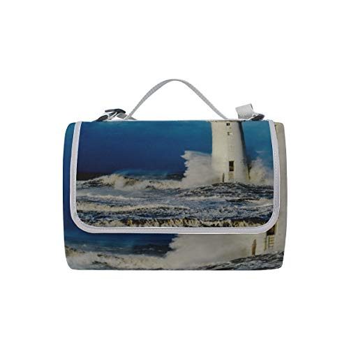 WSNWCY Lighthouse On The Sea Under Sky Picnic Mat 57